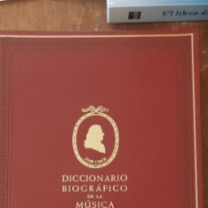 Diccionarios de segunda mano: DICCIONARIO BIOGRÁFICO DE LA MÚSICA - JOSÉ RICART MATAS, PYMY 7. Lote 235168095