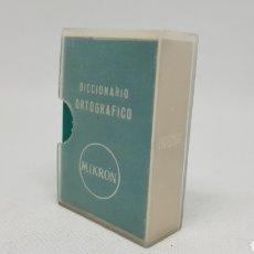 Diccionarios de segunda mano: DIFICIL DICCIONARIO ORTOGRAFICO MIKRON CON SU FUNDA ORIGINAL 1966. Lote 235176335