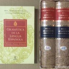 Diccionarios de segunda mano: LOTE DICCIONARIO DE LA LENGUA ESPAÑOLA RAE REAL ACADEMIA GRAMATICA VIGESIMA PRIMERA EDICION ESPASA. Lote 229262715