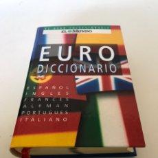 Diccionarios de segunda mano: EURO DICCIONARIO. Lote 235788050