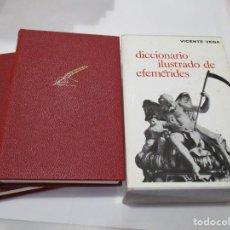 Diccionarios de segunda mano: VICENTE VEGA DICCIONARIO ILUSTRADO DE EFEMÉRIDES ( 2 TOMOS) W5163. Lote 235910565