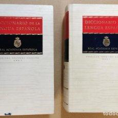 Libri di seconda mano: DICCIONARIO DE LENGUA ESPAÑOLA 2 TOMOS REAL ACADEMIA ESPAÑOLA.VIGÉSIMA SEGUNDA ED. 2001 ESPASA CALPE. Lote 236017090