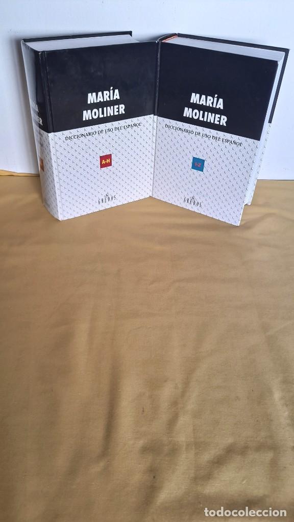 MARIA MOLINER - DICCIONARIO DE USO DEL ESPAÑOL ( 2 TOMOS) - EDITORIAL GREDOS 2002 (Libros de Segunda Mano - Diccionarios)