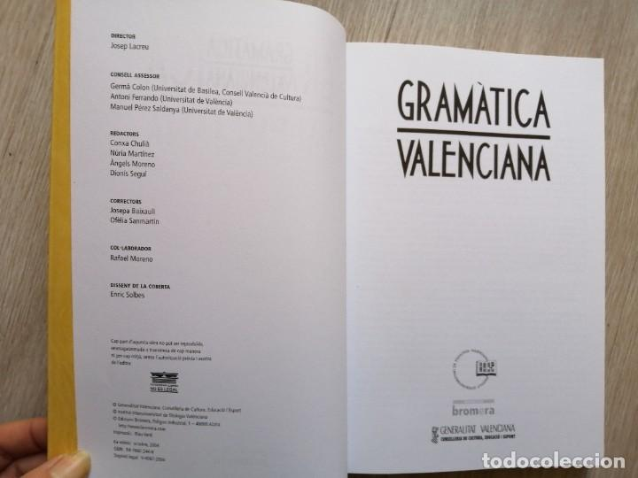 Diccionarios de segunda mano: Gramática valenciana. Bromera. 2004. - Foto 4 - 236335510