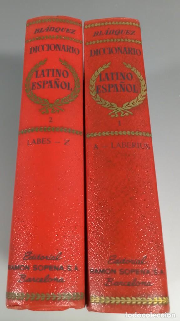 DICCIONARIO LATINO ESPAÑOL - AGUSTIN BLANQUEZ - SOPENA (Libros de Segunda Mano - Diccionarios)