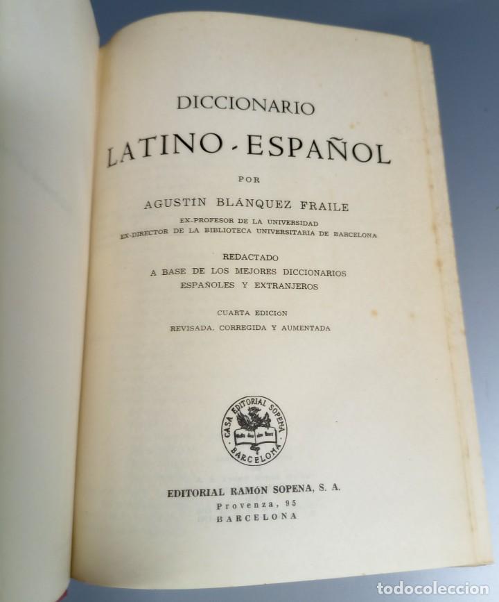 Diccionarios de segunda mano: DICCIONARIO LATINO ESPAÑOL - AGUSTIN BLANQUEZ - SOPENA - Foto 3 - 236724875