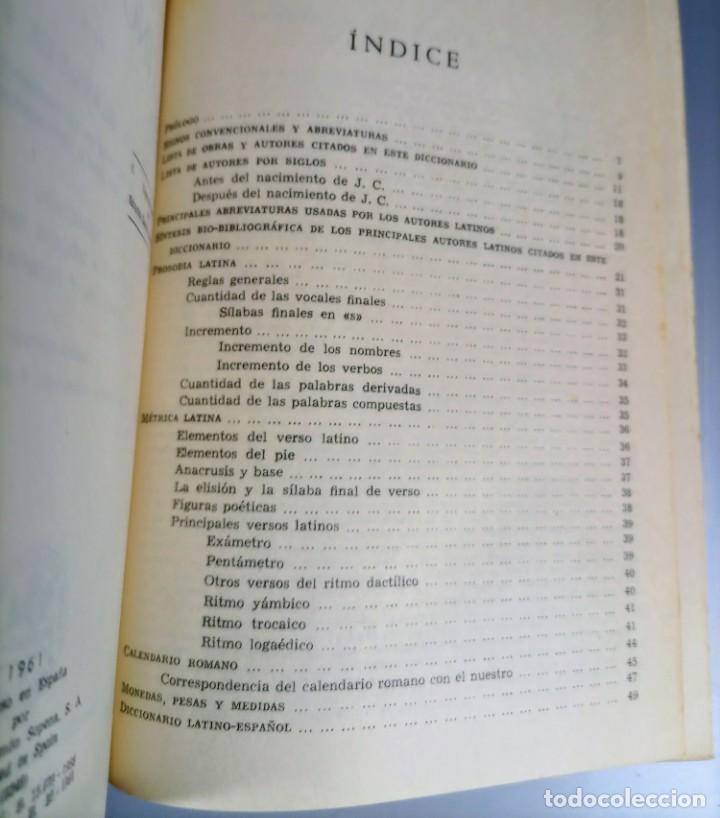 Diccionarios de segunda mano: DICCIONARIO LATINO ESPAÑOL - AGUSTIN BLANQUEZ - SOPENA - Foto 5 - 236724875