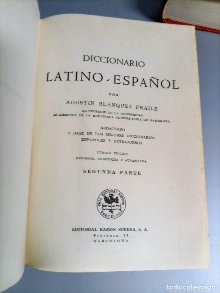 Diccionarios de segunda mano: DICCIONARIO LATINO ESPAÑOL - AGUSTIN BLANQUEZ - SOPENA - Foto 7 - 236724875