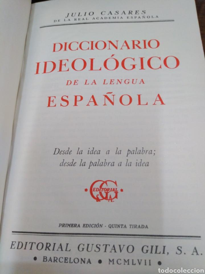 Diccionarios de segunda mano: DICCIONARIO IDEOLOGICO DE LA LENGUA ESPAÑOLA-J.CASARES-EDITA GUSTAVO GILI 1942,BUEN ESTADO - Foto 4 - 237470505