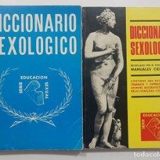 Diccionarios de segunda mano: DICCIONARIO SEXOLOGICO. NEW YORK, USA 1968 2 TOMOS. MANUALES CIENTIFICOS. ILUSTRADO. Lote 238469485