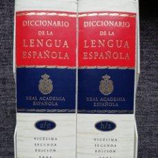 Diccionarios de segunda mano: DICCIONARIO DE LA LENGUA ESPAÑOLA RAE. VIGÉSIMA SEGUNDA EDICIÓN, 2001.. Lote 239607420