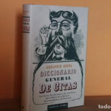 Diccionarios de segunda mano: DICCIONARIO GENERAL DE CITAS / GREGORIO DOVAL. Lote 241215245