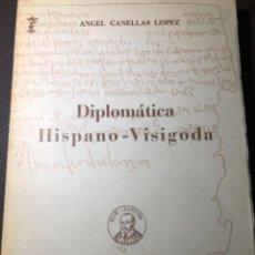 Diccionarios de segunda mano: CANELLAS DIPLOMATICA HISPANO VISIGODA. Lote 241281275