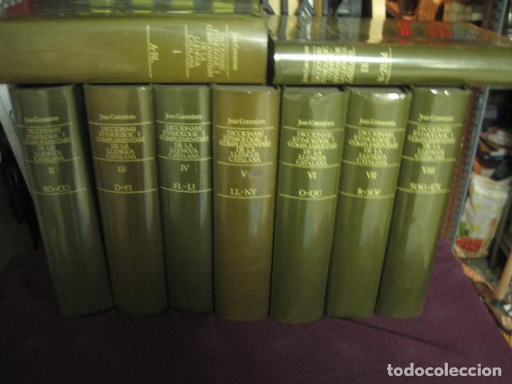 JOAN COROMINAS - DICCIONARI ETIMOLOGIC DE LA LLENGUA CATALANA 9 TOMOS (DE A A Z, FALTA TOMO INDEX) (Libros de Segunda Mano - Diccionarios)