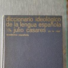 Diccionarios de segunda mano: DICCIONARIO IDEOLÓGICO DE LA LENGUA ESPAÑOLA JULIO CASARES ACADEMIA ESPAÑOLA..VER FOTOS. Lote 244658810