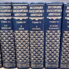 Diccionarios de segunda mano: DICCIONARIO ENCICLOPÉDICO ABREVIADO, ESPASA CALPE S.A., 8 TOMOS. Lote 244744665