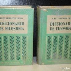 Diccionarios de segunda mano: DICCIONARIO DE FILOSOFÍA. OBRA COMPLETA EN DOS TOMOS.- FERRATER MORA, JOSÉ.. Lote 245190935