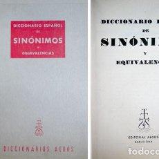 Diccionarios de segunda mano: ANDRÉS, M. F. DICCIONARIO ESPAÑOL DE SINÓNIMOS Y EQUIVALENCIAS. 1959.. Lote 245266310