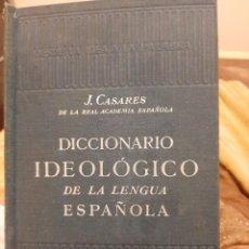 Diccionarios de segunda mano: DICCIONARIO IDEOLOGICO DE LA LENGUA ESPAÑOLA. Lote 245286820