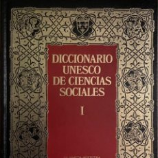 Diccionarios de segunda mano: DICCIONARIO UNESCO DE CIENCIAS SOCIALES - 4 TOMOS COMPLETO. Lote 245309090