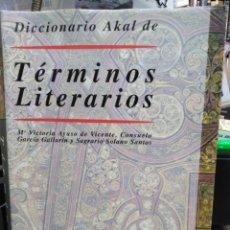 Diccionarios de segunda mano: DICCIONARIO AKAL DE TÉRMINOS LITERARIOS-AYUSO DE VICENTE/GALLARIN-EDITA AKAL 1997. Lote 245351300