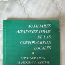 Diccionarios de segunda mano: LIBRO AUXILIARES ADMINISTRATIVOS CORPORACIONES LOCALES 1991 PAG 384. Lote 245434085