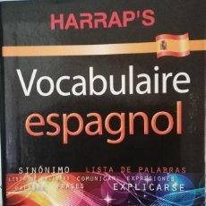 Diccionarios de segunda mano: BOCABULAIRE ESPAGNOL HARRAP´S. Lote 245459180