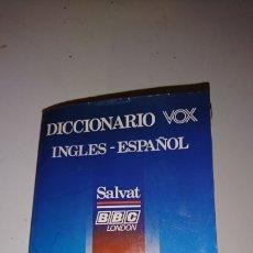 Diccionarios de segunda mano: VIEJO DICCIONARIO VOX, INGLÉS-ESPAÑOL, SALVAT EDICIÓN ESPECIAL, AÑO 1988. Lote 245477160