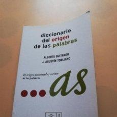 Diccionarios de segunda mano: DICCIONARIO DEL ORIGEN DE LAS PALABRAS. ALBERTO BUITRAGO J. AGUSTIN TORIJANO. ESPASA. 2007. PAG.243.. Lote 245580080