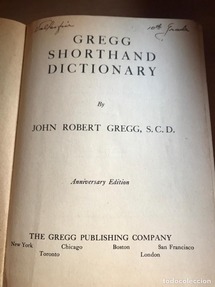 Diccionarios de segunda mano: Diccionario gregg shorthand 1947 - Foto 2 - 246111615
