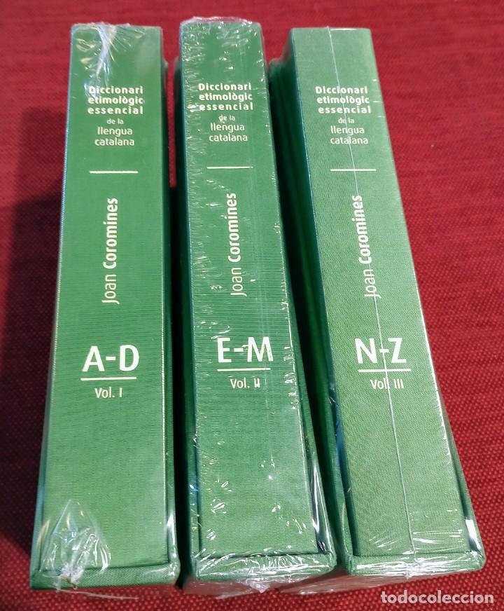 DICCIONARI ETIMOLOGIC ESSENCIAL DE LA LLENGUA CATALANA - COROMINES - PRECINTADO - NUEVO (Libros de Segunda Mano - Diccionarios)