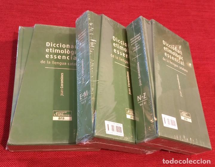 Diccionarios de segunda mano: DICCIONARI ETIMOLOGIC ESSENCIAL DE LA LLENGUA CATALANA - COROMINES - PRECINTADO - NUEVO - Foto 2 - 247497105
