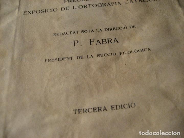 Diccionarios de segunda mano: diccionari ortografic . pompeu fabra 3era edicion . institut estudis catalans 1931 ex libris - Foto 4 - 247676155