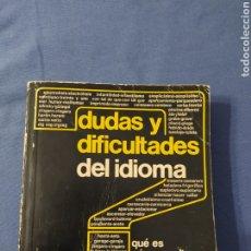 Diccionarios de segunda mano: DICCIONARIO SOPENA DUDAS Y DIFICULTADES DEL IDIOMA. Lote 247771765