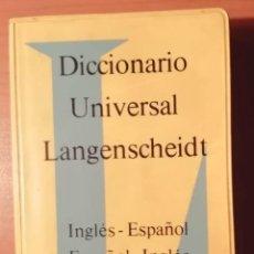Diccionarios de segunda mano: DICCIONARIO INGLÉS-ESPAÑOL. ESPAÑOL-INGLÉS. PASTAS DE PLÁSTICO. Lote 248504405