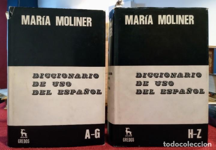MARIA MOLINER - DICCIONARIO DE USO DEL ESPAÑOL - 1990 - GREDOS (Libros de Segunda Mano - Diccionarios)
