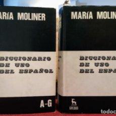 Libri di seconda mano: MARIA MOLINER - DICCIONARIO DE USO DEL ESPAÑOL - 1990 - GREDOS. Lote 249526660