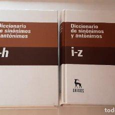 Livros em segunda mão: DICCIONARIO DE SINÓNIMOS Y ANTÓNIMOS - GREDOS 2008. Lote 252205050