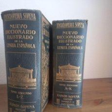 Diccionarios de segunda mano: ENCICLOPEDIA NUEVO DICCIONARIO ILUSTRADO DE LA LENGUA ESPAÑOLA SOPENA 1929. 2 TOMOS. Lote 252994655
