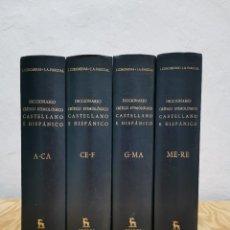 Livres d'occasion: DICCIONARIO CRÍTICO ETIMOLÓGICO CASTELLANO E HISPÁNICO. COROMINAS, J. PASCUAL, J. A. GREDOS, 1980. Lote 254450450