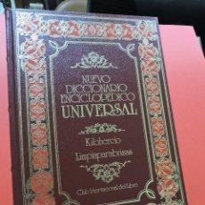 Diccionarios de segunda mano: NUEVO DICCIONARIO ENCICLOPÉDICO UNIVERSAL. KIL LIM. KILOHERCIO LIMPIAPARABRISAS. 26. Lote 254725590