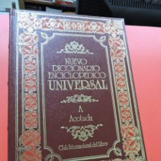 Diccionarios de segunda mano: NUEVO DICCIONARIO ENCICLOPÉDICO UNIVERSAL. A ACO. A ACOTADA. 1. Lote 254726625