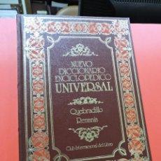 Diccionarios de segunda mano: NUEVO DICCIONARIO ENCICLOPÉDICO UNIVERSAL. QUE REN. QUEBRADILLO RENANIA. 36. Lote 254727255