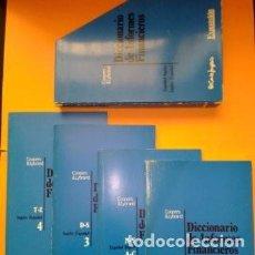 Diccionarios de segunda mano: 1990 DICCIONARIO DE INFORMES FINANCIEROS, COLECCION 4 TOMOS CON ESTUCHE, EL CORTE INGLES EXPANSION,. Lote 254850180