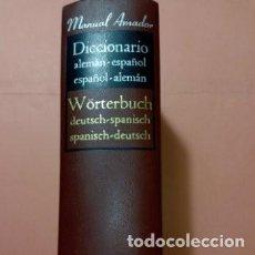 Diccionarios de segunda mano: 1967 DICCIONARIO ALEMAN ESPAÑOL/ESPAÑOL ALEMAN,ED. R. SOPENA,MANUAL AMADOR, TAPA DURA PIEL. Lote 254850505