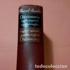 Diccionarios de segunda mano: 1967 DICCIONARIO INGLES ESPAÑOL/ESPAÑOL INGLES,ED. R. SOPENA,MANUAL AMADOR, TAPA DURA PIEL. Lote 254850745