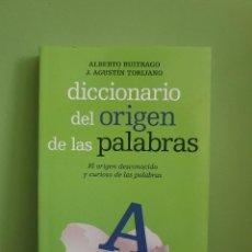 Libri di seconda mano: DICCIONARIO DEL ORIGEN DE LAS PALABRAS.- BUITRAGO, ALBERTO. ; TORIJANO, J. AGUSTÍN.. Lote 255514165