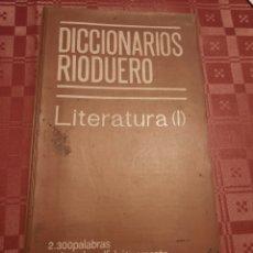 Diccionarios de segunda mano: DICCIONARIOS RIODUERO LITERATURA ( 1 ). Lote 257348400