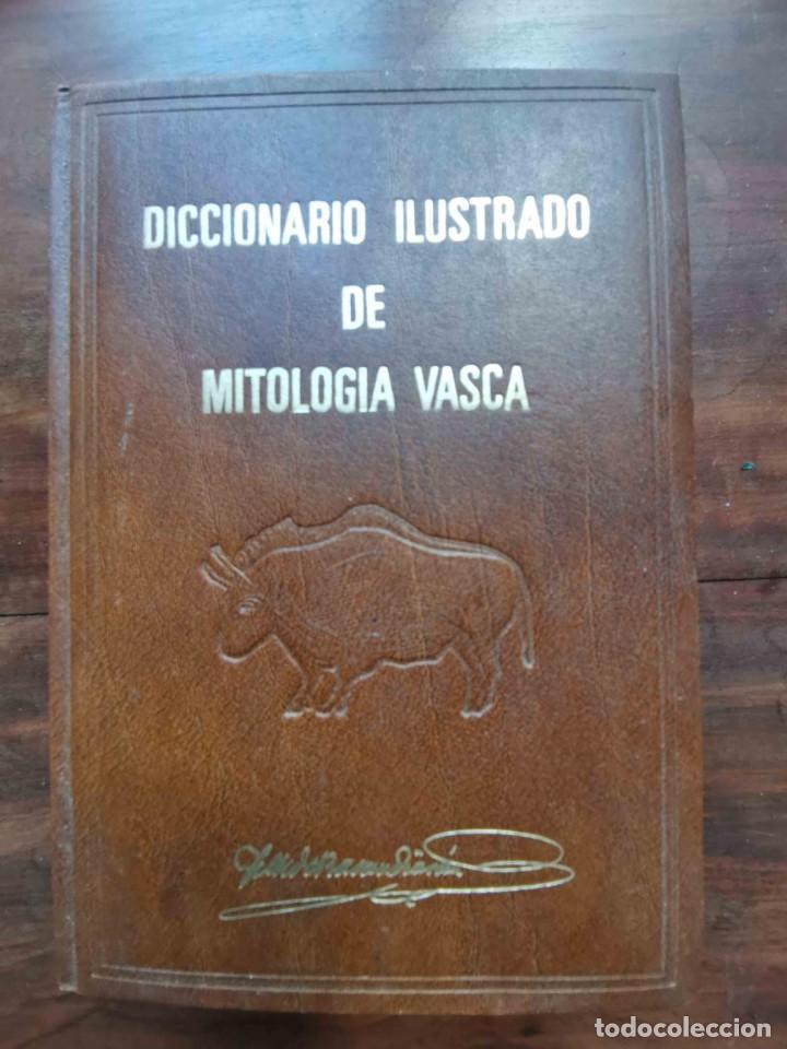 DICCIONARIO ILUSTRADO DE MITOLOGÍA VASCA. JOSÉ MIGUEL DE BARANDIARÁN. GRAN ENCICLOPEDIA VASCA, 1972 (Libros de Segunda Mano - Diccionarios)