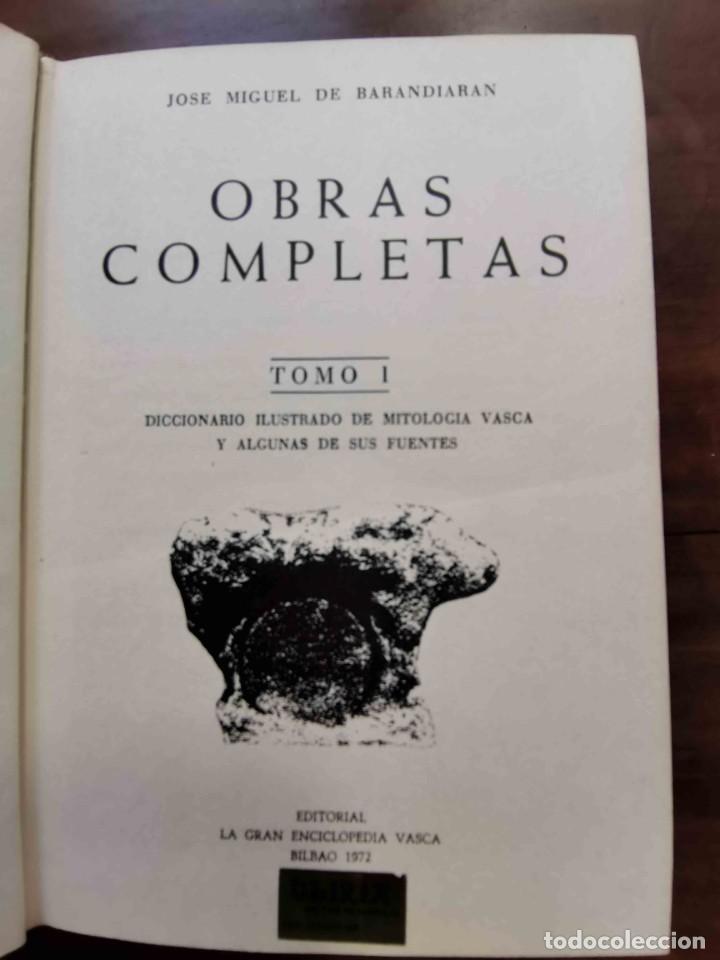 Diccionarios de segunda mano: Diccionario Ilustrado de Mitología Vasca. José Miguel De Barandiarán. Gran Enciclopedia Vasca, 1972 - Foto 2 - 257538600